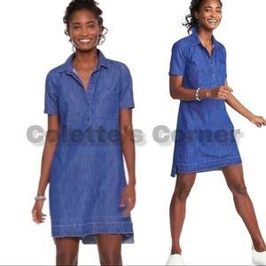 NWOT Dark Chambray Release-Hem Shirt Dress